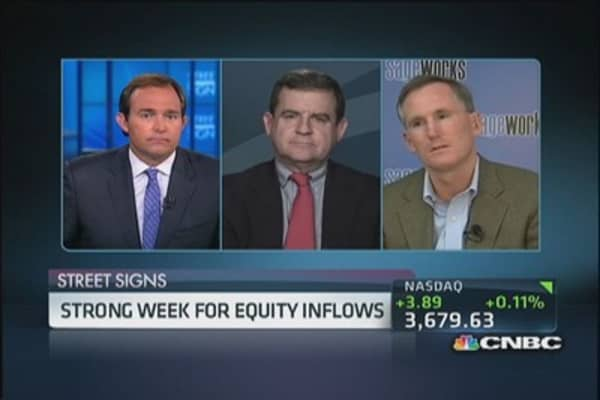 Strong week for equity inflows