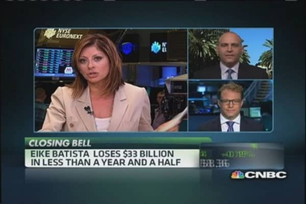 Eike Batista's big losses