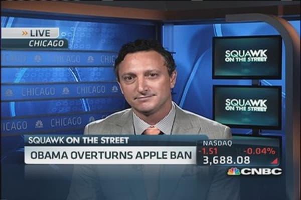 Obama overturns Apple ban
