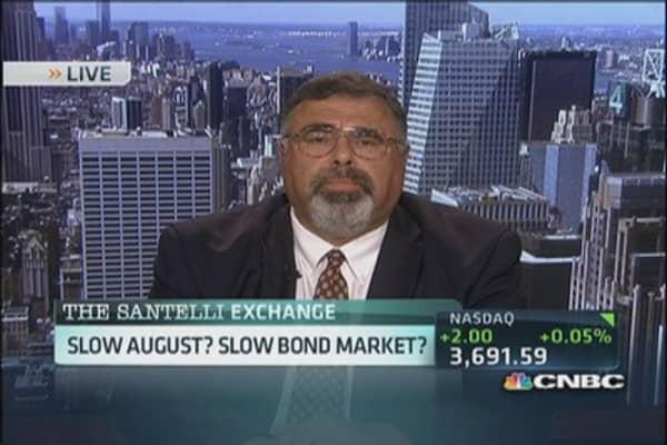 Santelli: Slow August? Slow bond activity?