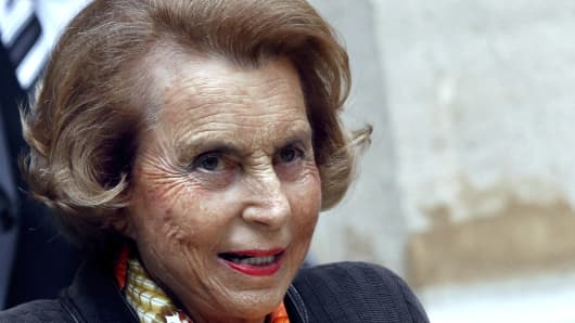 French Billionaire L'Oreal heiress Liliane Bettencourt
