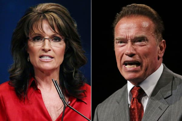 Sarah Palin and Arnold Schwarzenegger