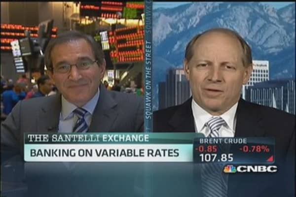 Santelli: 'playing chicken' with interest rates