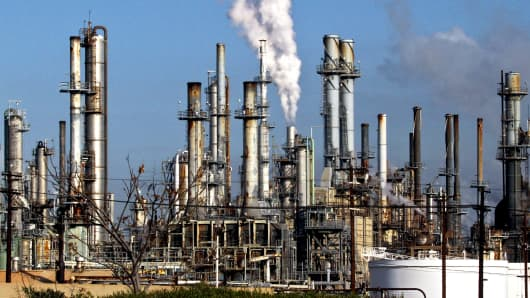 A ConocoPhillips refinery in Wilmington, California.