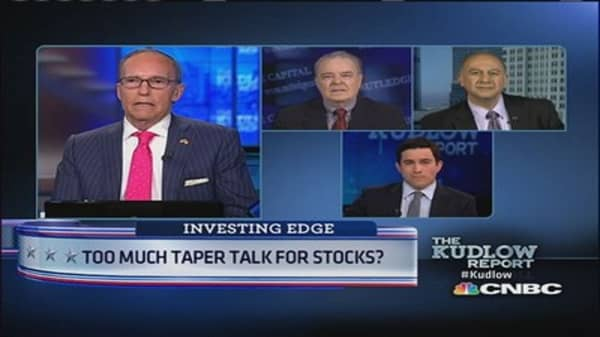 Too much taper talk for stocks?