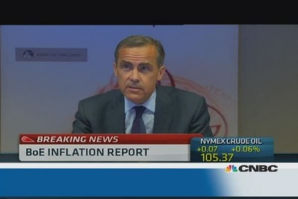 BoE's Carney: Renewed recovery underway
