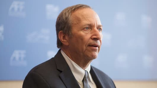 Larry Summers, professor at the John F. Kennedy School of Government.