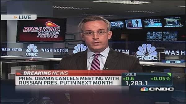 Pres. Obama cancels Putin meeting
