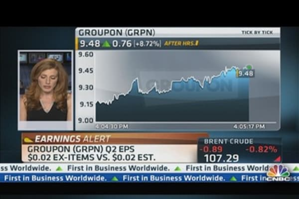 Groupon reports Q2 earnings