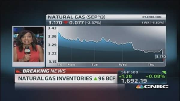 Natural gas inventories up 96 BCF