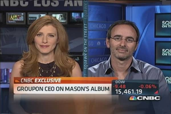 Groupon CEO reacts to Andrew Mason's new gig