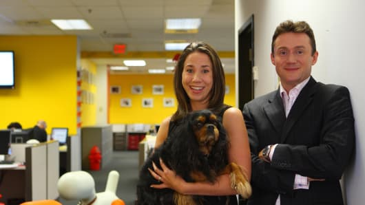 Chris and Natasha Ashton, founders of Petplan