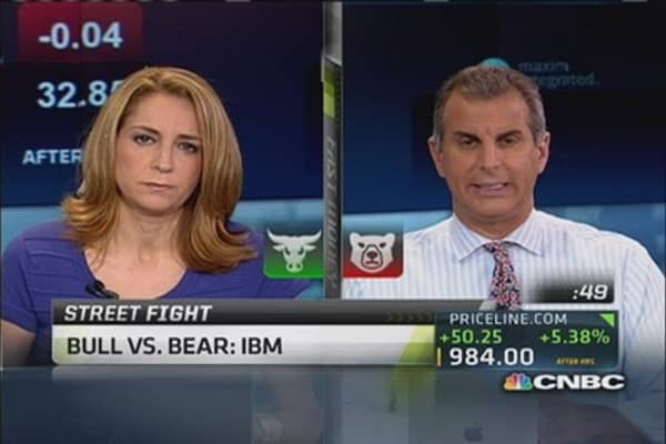 Debate it: Bull vs. bear on IBM