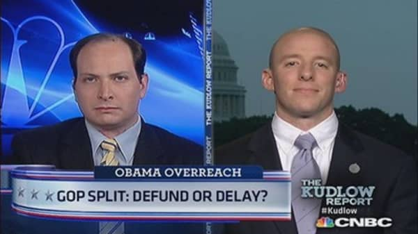 GOP Split: Defund or Delay?