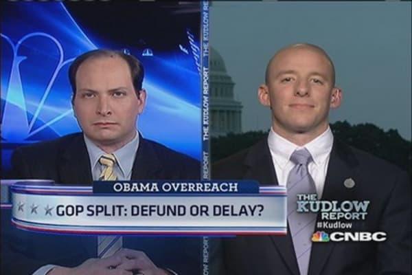 GOP Split: Defund or Delay?
