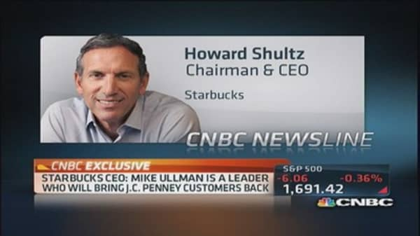 Starbucks Schultz on Ackman's battle with JCP
