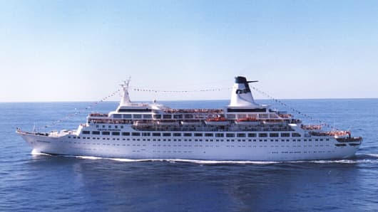 "The Pacific Princess, aka ""The Love Boat,"" in 1987."