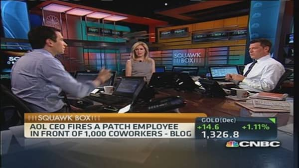 AOL's Armstrong fires patch employee