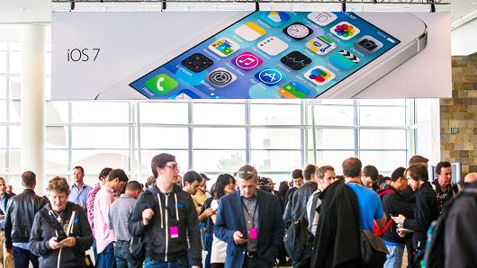Apple introduced a new mobile operating system iOS 7, hardware upgrades at the 2013 Apple WWDC in San Francisco, California.