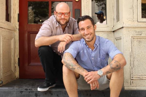 Daniel Holzman, left, and Michael Chernow, co-founders of The Meatball Shop