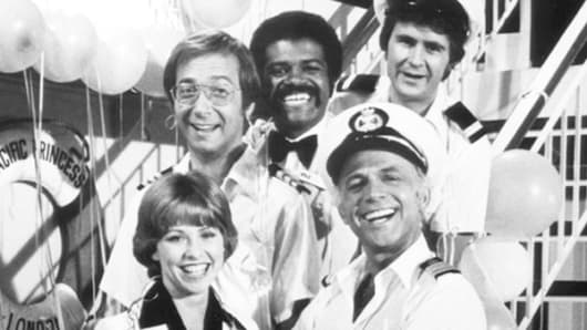 "Ted Lange, rear center, and fellow members of ""The Love Boat"" cast in 1977."
