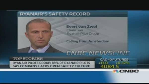 Ryanair Pilots Group: Ryanair lacks open safety culture