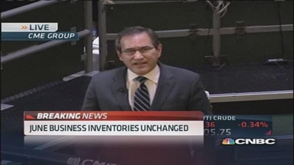 June business inventories unchanged