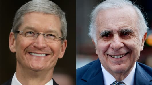 Tim Cook and Carl Icahn