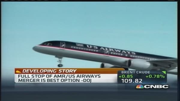 US Airways & AMR merger threat