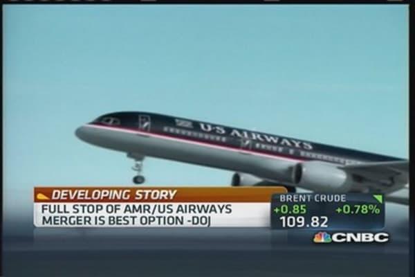 US Airways & AMR merger threat