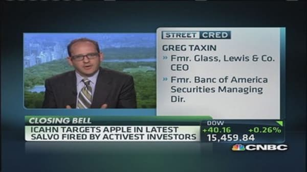 Icahn targets Apple in latest tweet