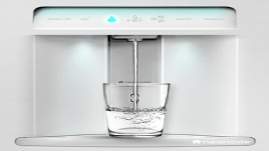 Touch enabled water dispenser