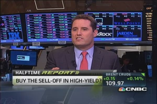 Buy the sell-off in high-yield?