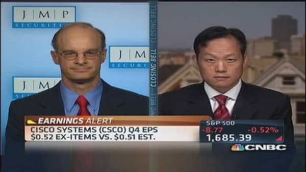 Cisco earnings in line with expectations