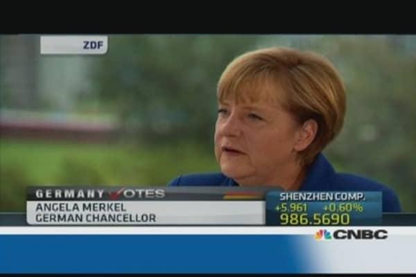 Merkel denounces tax increases