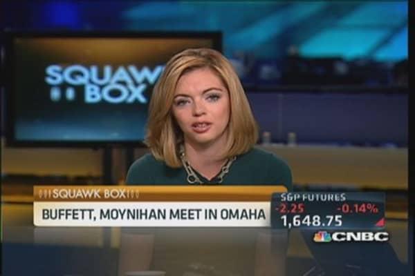 Warren Buffett and BofA CEO Moynihan share a meal