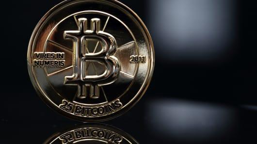 A twenty-five bitcoin