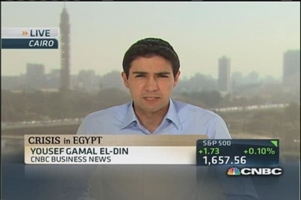 Violent start to the week in Egypt