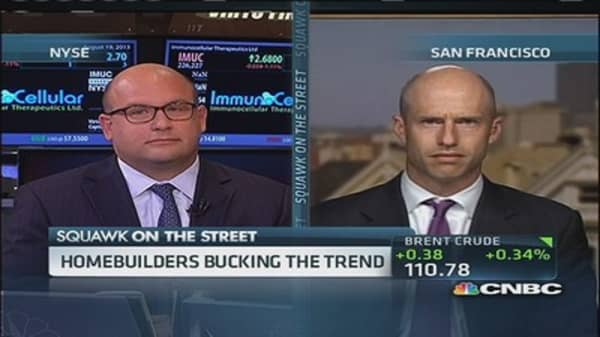 Home builders bucking the trend