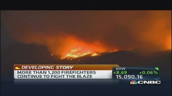 Massive wildfire in Idaho