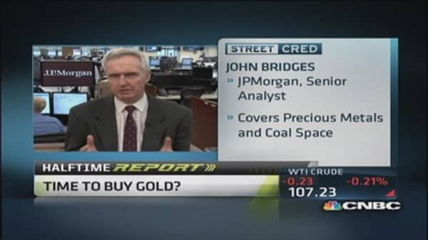 Gold is glittering again