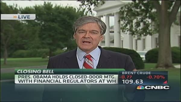 Obama holds closed-door meeting