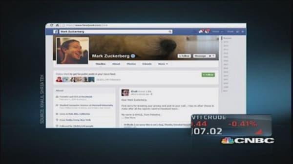 Zuckerberg's Facebook page hacked