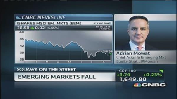 Flight from emerging markets  as investors seek safety trades