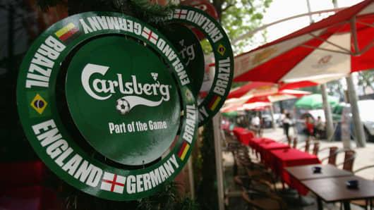A Carlsberg advertisement
