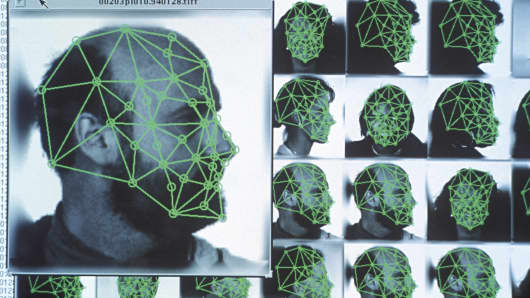 Facial-recognition grid