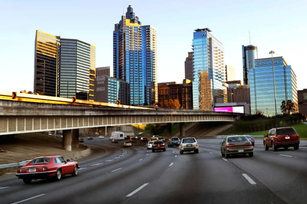 Interstate 75 in downtown Atlanta