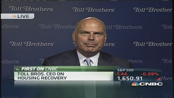 Toll Bros. CEO: 'Rising rates are not affecting our customers'