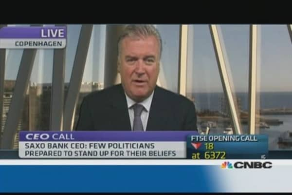 The euro is a failed project: Saxo bank CEO