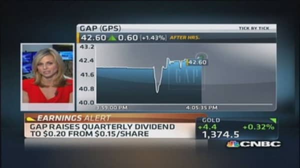 Gap reports earnings
